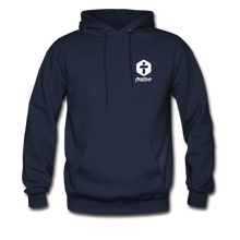"Load image into Gallery viewer, ""God So Loved"" Men's Hoodie - navy"