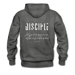 """Disciple"" Men's Hoodie - charcoal gray"