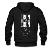 "Load image into Gallery viewer, ""Iron Sharpens Iron"" Men's Hoodie - black"