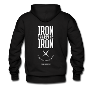 """Iron Sharpens Iron"" Men's Hoodie - black"