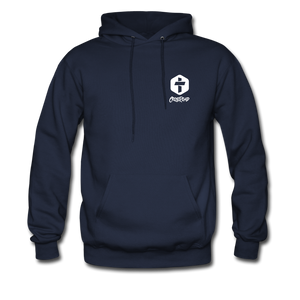 """Iron Sharpens Iron"" Men's Hoodie - navy"