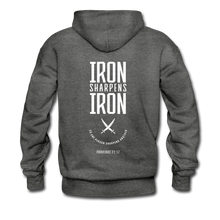 "Load image into Gallery viewer, ""Iron Sharpens Iron"" Men's Hoodie - charcoal gray"