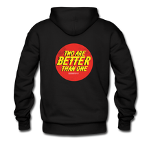 "Load image into Gallery viewer, ""Two Are Better"" Men's Hoodie - black"