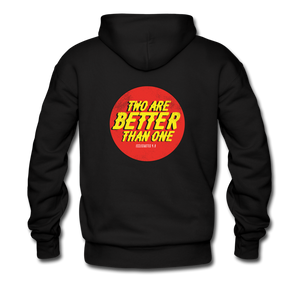 """Two Are Better"" Men's Hoodie - black"