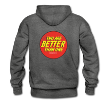 "Load image into Gallery viewer, ""Two Are Better"" Men's Hoodie - charcoal gray"
