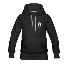 "Load image into Gallery viewer, ""Faith"" Women's Hoodie - black"