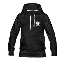 "Load image into Gallery viewer, ""Faith"" Women's Hoodie - charcoal gray"