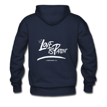 "Load image into Gallery viewer, ""Love Is Patient"" Men's Hoodie - navy"