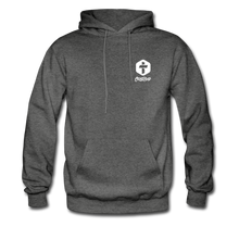 "Load image into Gallery viewer, ""Love Is Patient"" Men's Hoodie - charcoal gray"