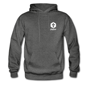 """Love Is Patient"" Men's Hoodie - charcoal gray"