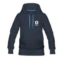 "Load image into Gallery viewer, ""Two Are Better"" Women's Hoodie - navy"
