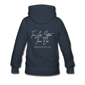 """Two Are Better"" Women's Hoodie - navy"