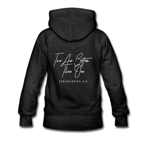 """Two Are Better"" Women's Hoodie - charcoal gray"