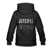 "Load image into Gallery viewer, ""Disciple"" Women's Hoodie - black"