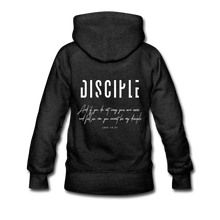 "Load image into Gallery viewer, ""Disciple"" Women's Hoodie - charcoal gray"