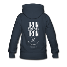 "Load image into Gallery viewer, ""Iron Sharpens Iron"" Women's Hoodie - navy"
