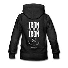 "Load image into Gallery viewer, ""Iron Sharpens Iron"" Women's Hoodie - charcoal gray"