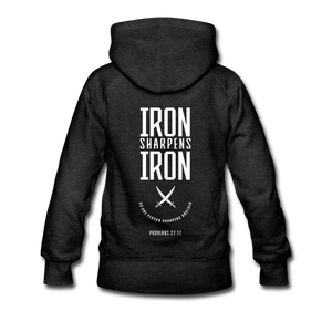 """Iron Sharpens Iron"" Women's Hoodie - charcoal gray"