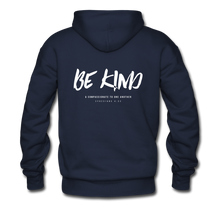 "Load image into Gallery viewer, ""Be Kind"" Men's Hoodie - navy"