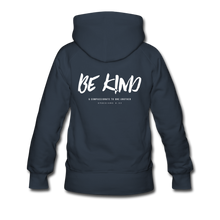 "Load image into Gallery viewer, ""Be Kind"" Women's Hoodie - navy"