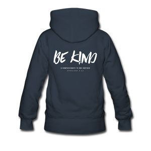 """Be Kind"" Women's Hoodie - navy"