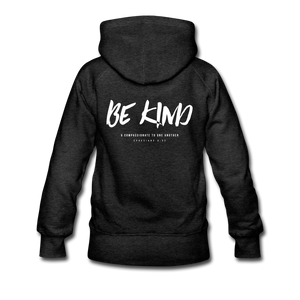 """Be Kind"" Women's Hoodie - charcoal gray"
