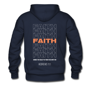 """Faith Alternative"" Men's Hoodie - navy"