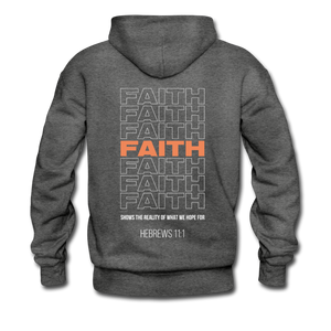 """Faith Alternative"" Men's Hoodie - charcoal gray"