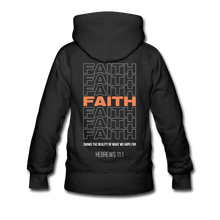 "Load image into Gallery viewer, ""Faith Alternative"" Women's Hoodie - black"