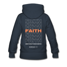 "Load image into Gallery viewer, ""Faith Alternative"" Women's Hoodie - navy"