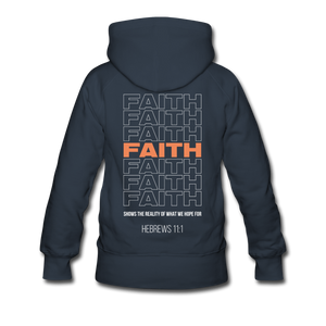 """Faith Alternative"" Women's Hoodie - navy"
