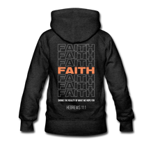 "Load image into Gallery viewer, ""Faith Alternative"" Women's Hoodie - charcoal gray"