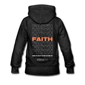 """Faith Alternative"" Women's Hoodie - charcoal gray"