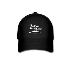 "Load image into Gallery viewer, ""Love Is Patient"" Baseball Cap - black"