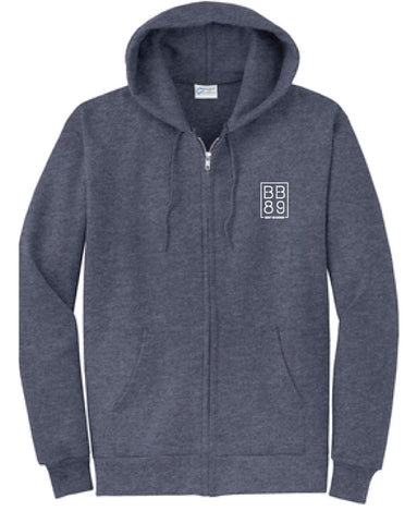 BB89 Full-Zip Hoodie (Heather Navy)