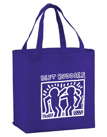 BB White Haring Reusable Grocery Tote _ Purple