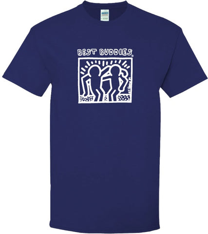 YOUTH - White Haring Tee (Cobalt Blue)