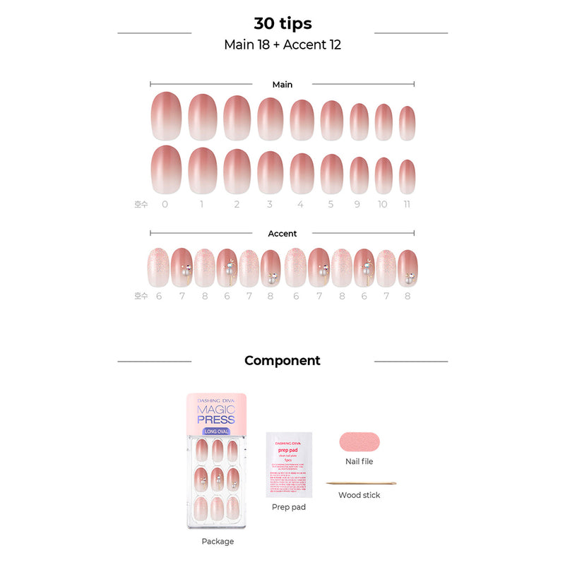 Magic Gel Press Manicure: MDR711OL (Oval Long-Super Slim Fit)