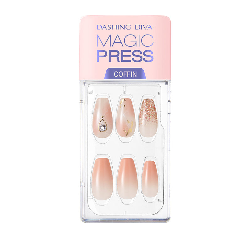Magic Gel Press Manicure: MDR718CF (Coffin-Super Slim Fit)