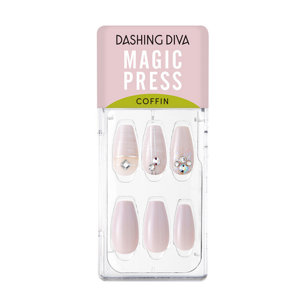 Magic Gel Press Manicure: MDR808CF (Coffin)