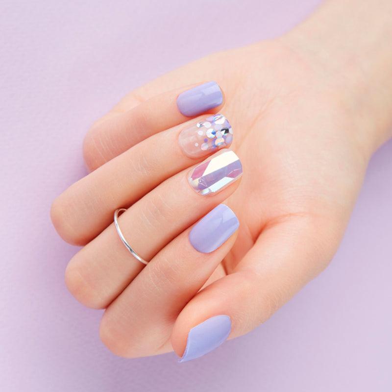 Magic Gel Press Manicure: MDR433 (Square-Super Slim Fit) - Dashing Diva - Soko Box