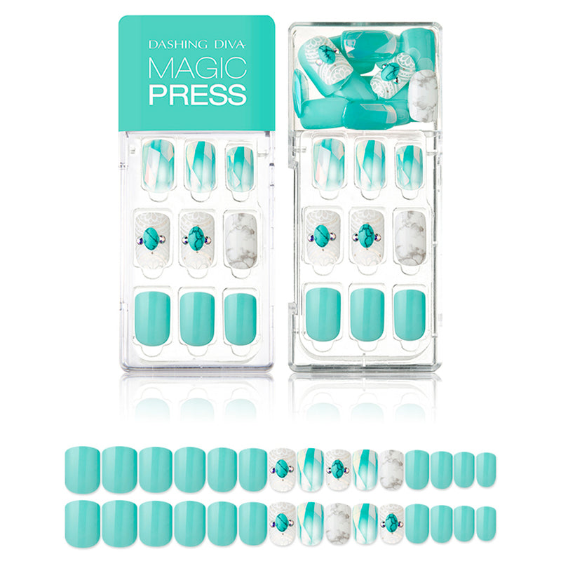 Magic Gel Press Manicure: MDR425 (Square-Super Slim Fit) - Dashing Diva - Soko Box