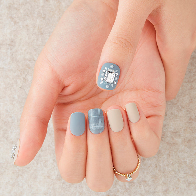 Magic Gel Press Manicure Big Stone: MDR527PR (Square-Super Slim Fit) - Dashing Diva - Soko Box