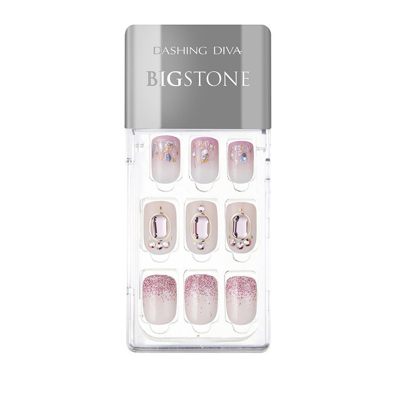 Magic Gel Press Manicure Big Stone: MDR563PR (Square-Super Slim Fit)