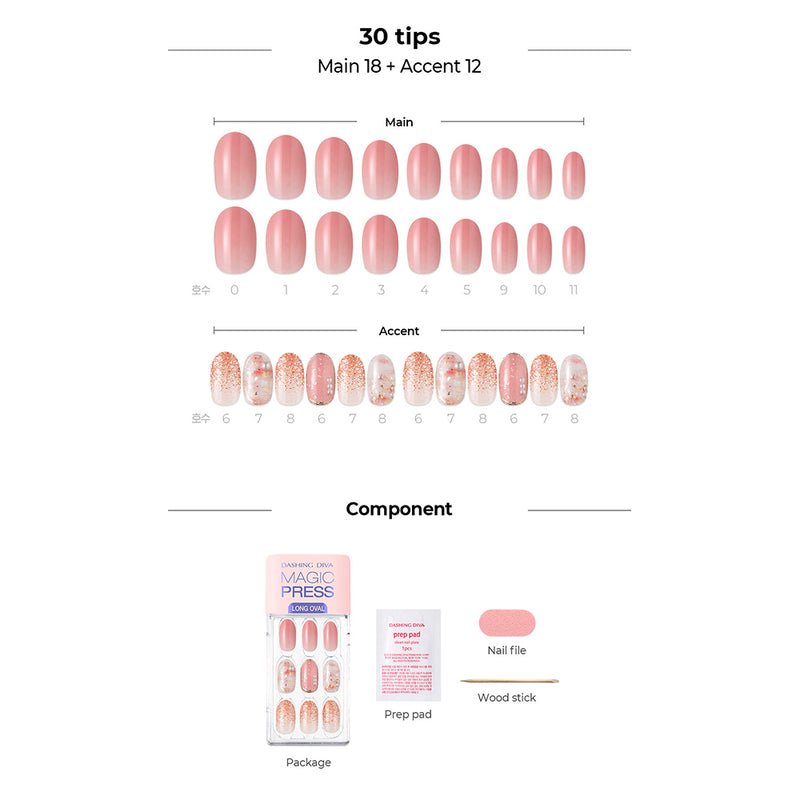 Magic Gel Press Manicure: MDR710OL (Oval Long-Super Slim Fit)