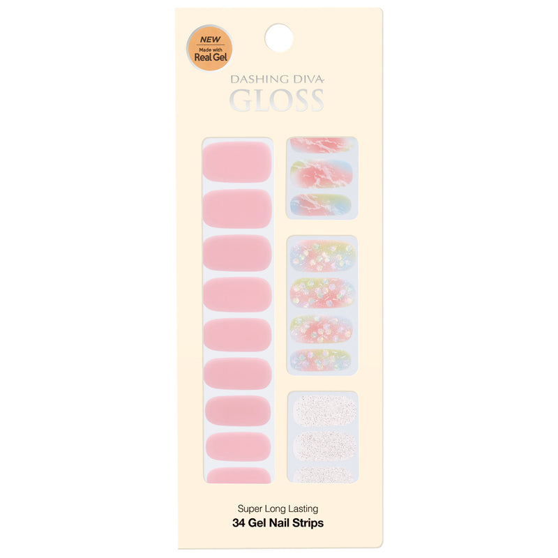 Gloss Gel Nail Strip: GVP193 - Dashing Diva - Soko Box