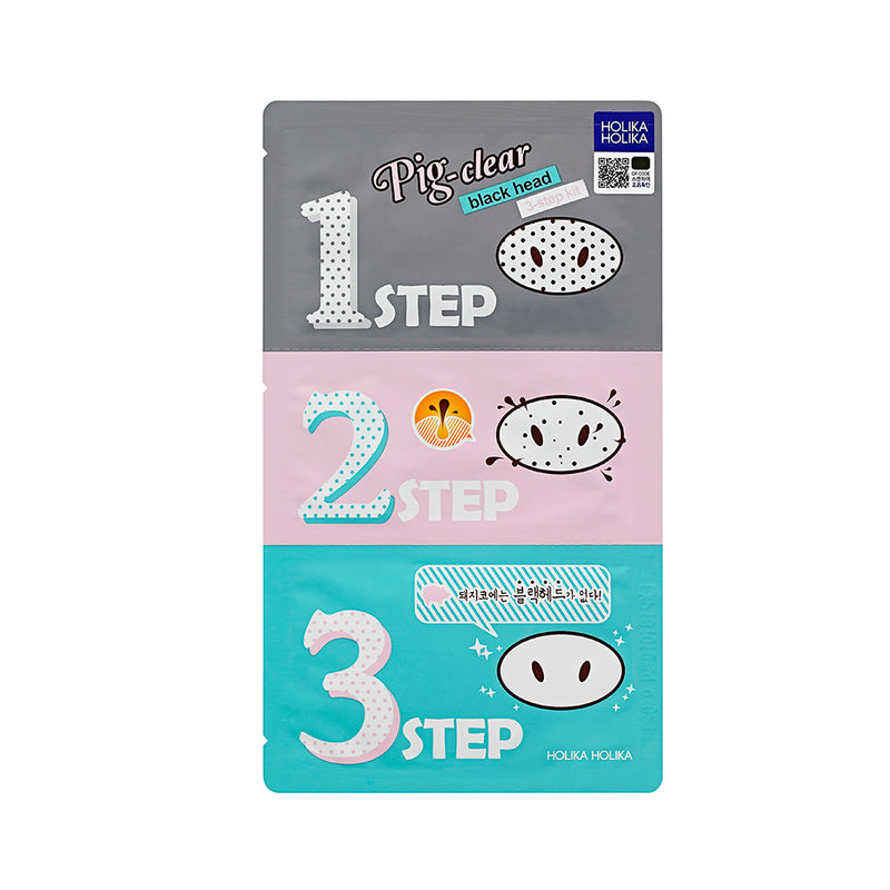 Pig Nose Clear Black Head 3-Step Kit - Holika Holika - Soko Box