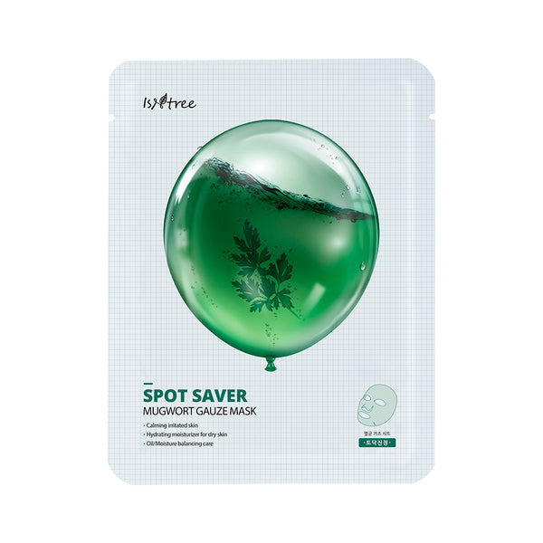 Spot Saver Mugwort Gauze Mask - Isntree - Soko Box