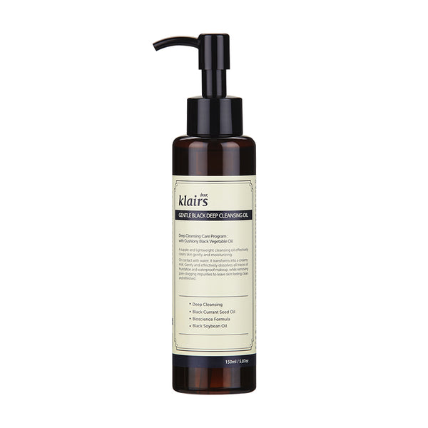 Gentle Black Deep Cleansing Oil - Klairs - Soko Box