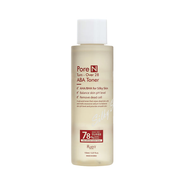 Pore N Turn-Over 28 ABA Toner - The Plant Base - Soko Box
